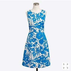 J. Crew Factory Floral Pleated Shift Dress